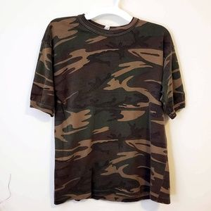 Vintage Camo Short Sleeve Shirt - Small/Medium